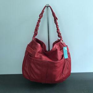 NWT AQUA MADONNA LEATHER RED BAG